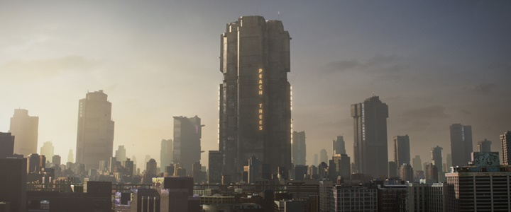 Mega City One landscape from Dredd